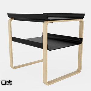 3d artek table 915 alvar aalto model