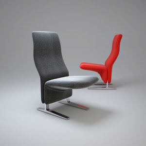 concorde-chair 3d obj