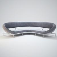 3dsmax curve-sofa
