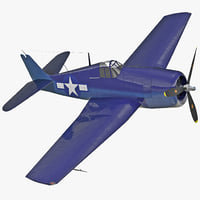 Fighter Aircraft Grumman F6F Hellcat Rigged