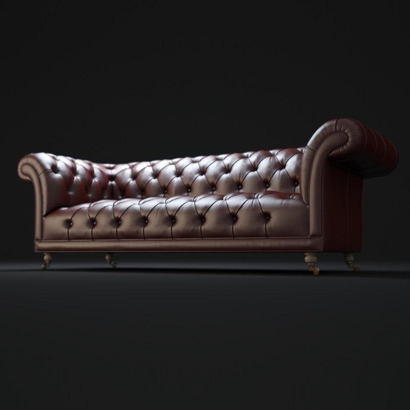 3d goodwood-chesterfield-sofa model