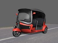 Low Poly Hybrid Auto Rickhsaw