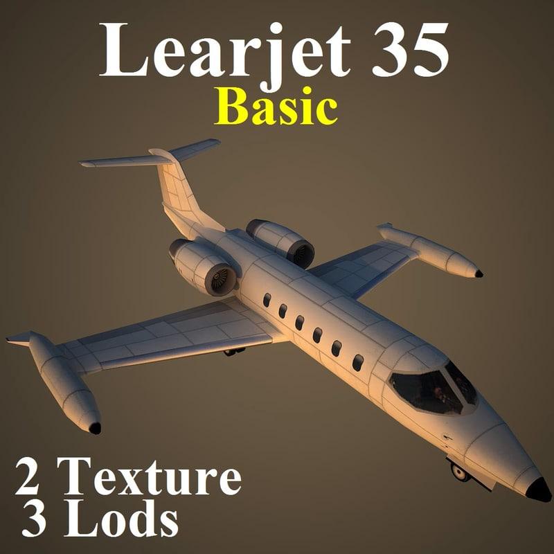 3d learjet 35 basic model