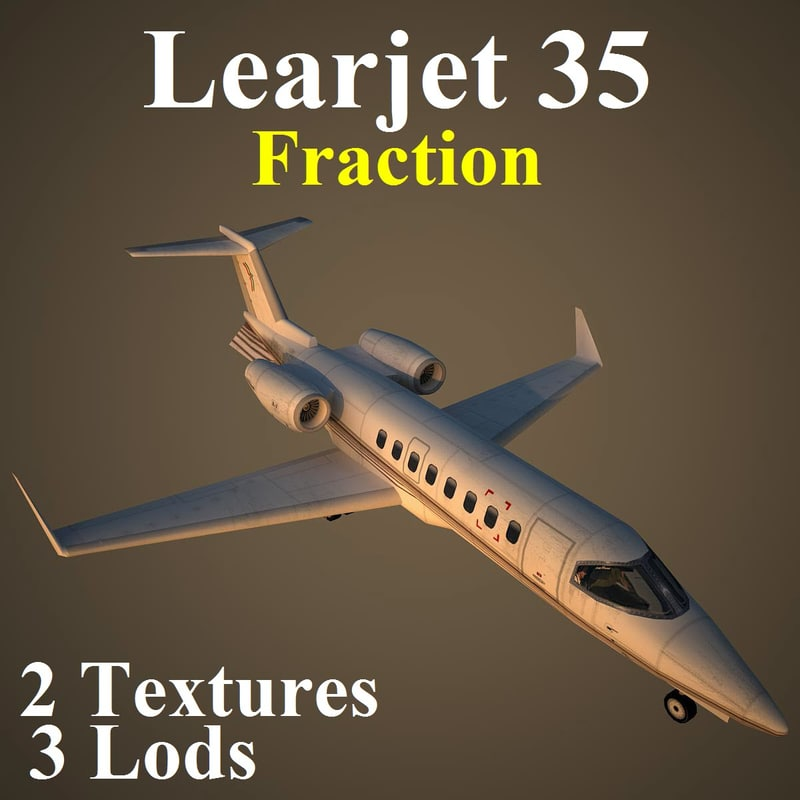 3d max learjet eff aircraft