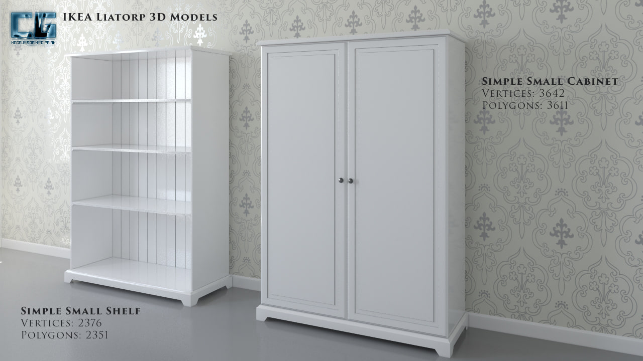 3d model ikea liatorp cabinet shelf
