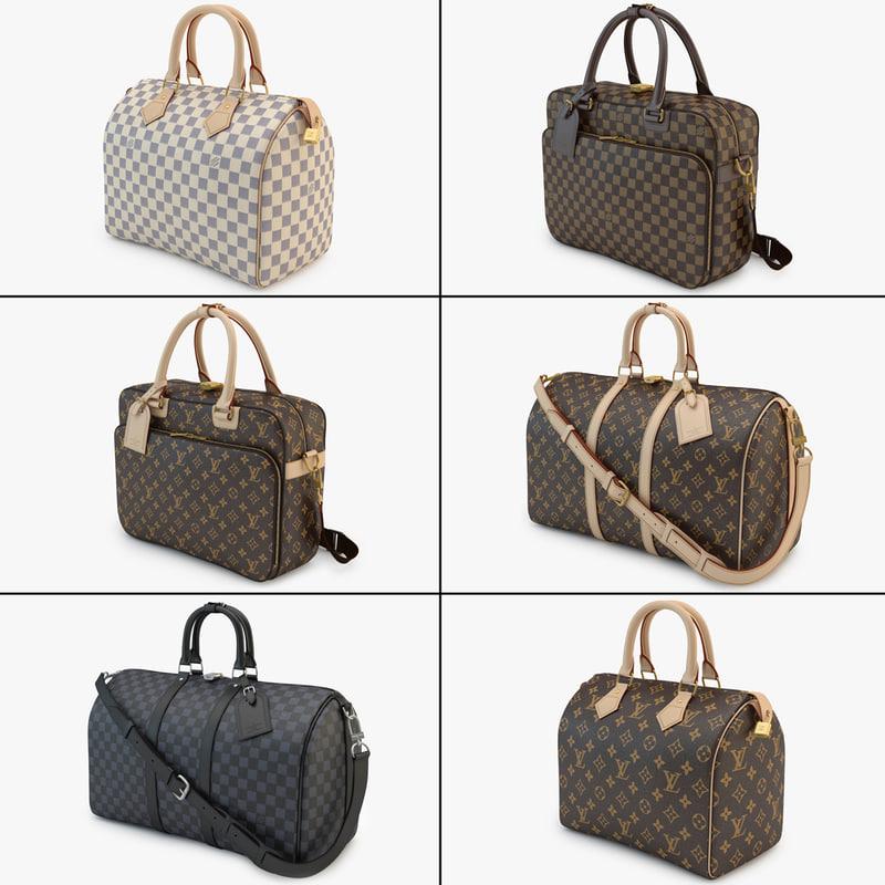 collections louis vuitton 02 3d model