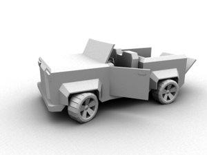 truck jeep quads 3d model