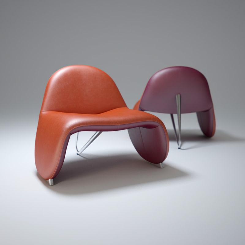 3d model patrick-belli-sella-chair