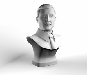 3ds contemporary male bust
