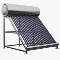 water tank solar 3d model