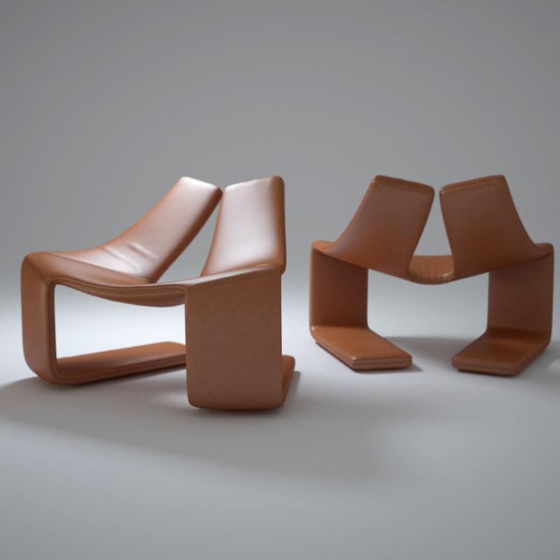 3dsmax steel-frame-zen-chair