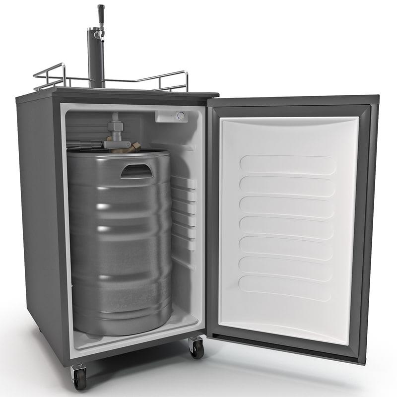 3d tap beer refrigerator dispenser