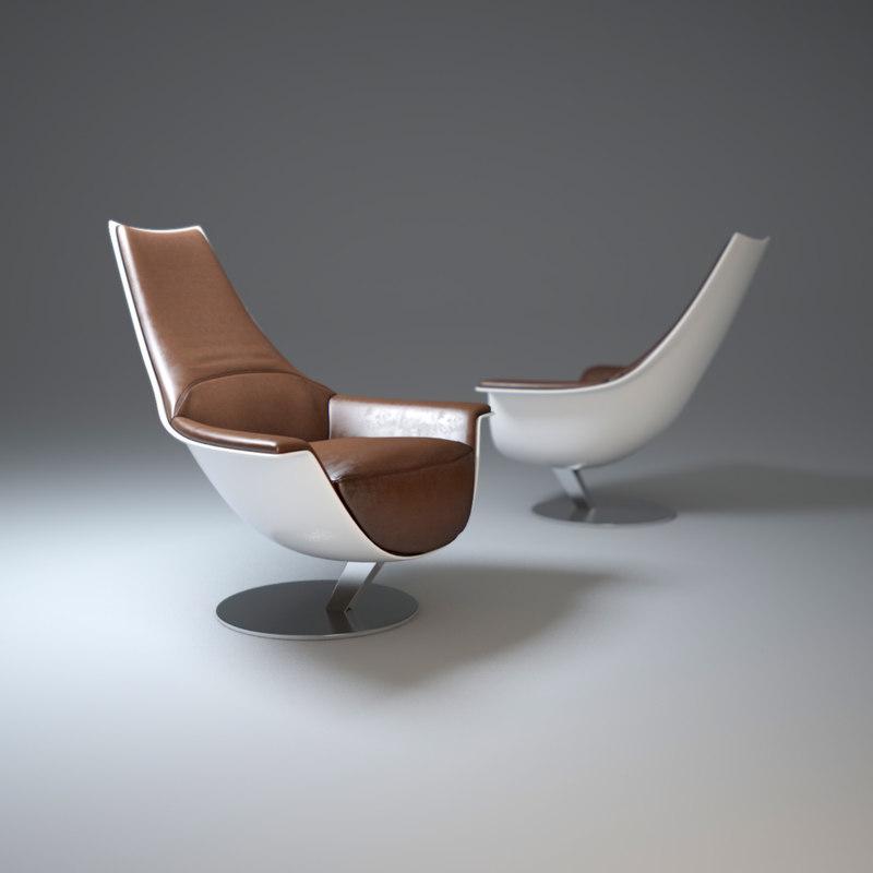 3d tongue-armchair