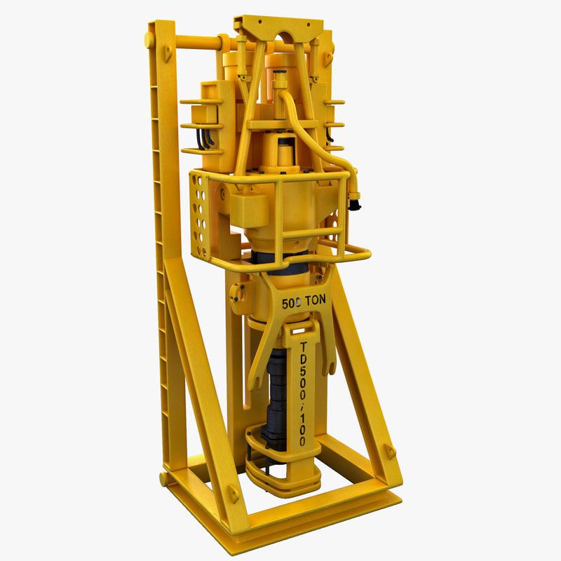 3d model drive drilling machine
