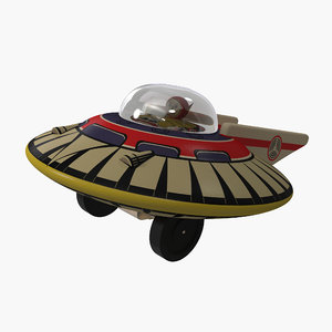 3ds max toy flying saucer