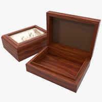 wooden accessory box 3d max