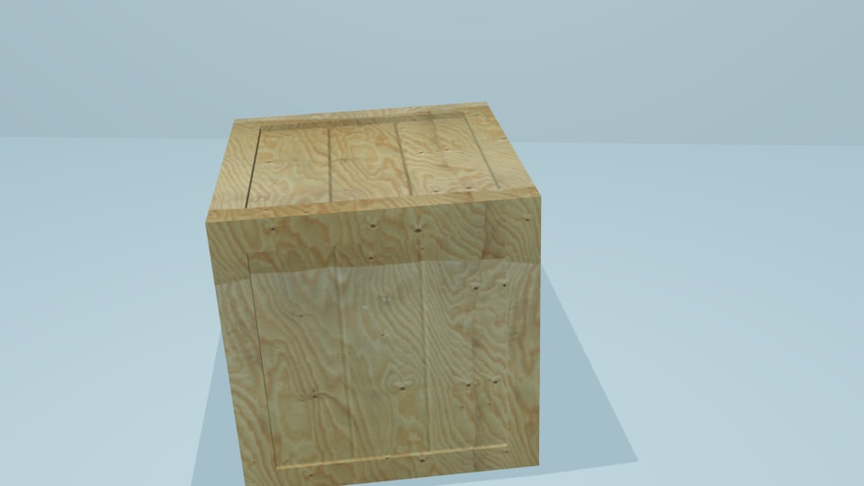 wooden crate obj free