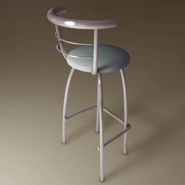 bar stool chair 3d max