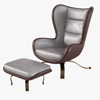 Promemoria Butterfly Chair& Footrest
