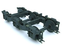 chassis train 3d model
