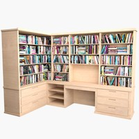 3d bookcase mht-02