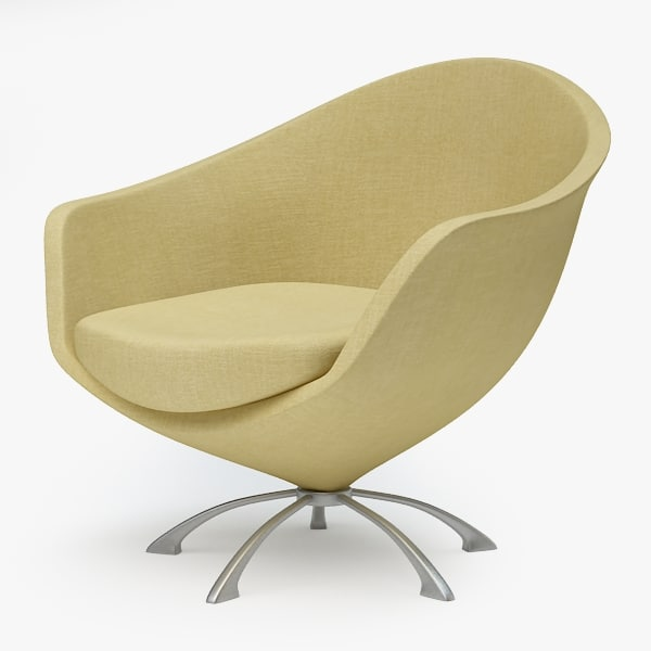 3d model armchair swivel chair