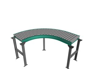 3d model blue conveyor belt