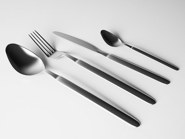 cutlery set 3d dxf