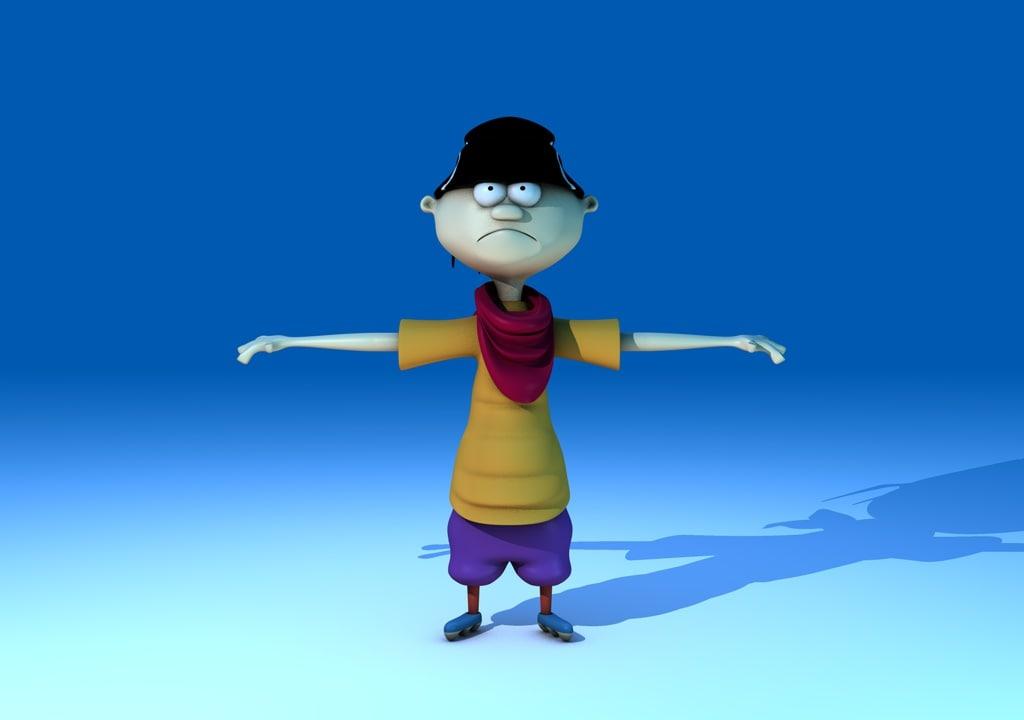 cartoon character ed c4d