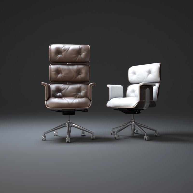 high-back-office-chair 3d model