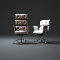 high-back-office-chair 3d model