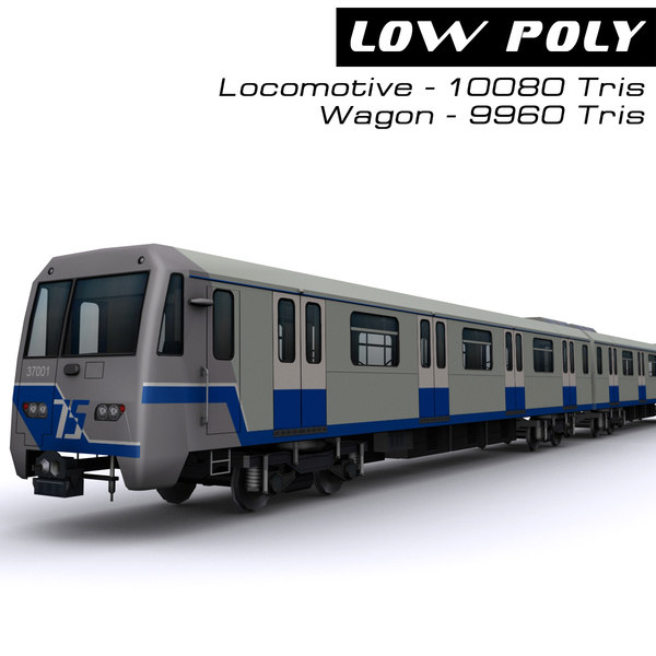 electric train interior 3d max