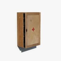 3d max wooden cabinet medicine
