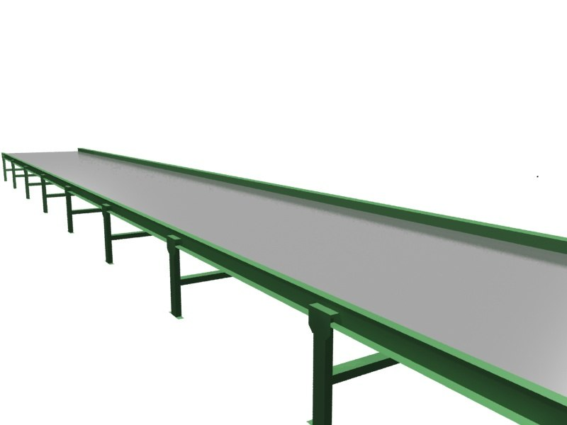 pallet conveyor 3d 3ds
