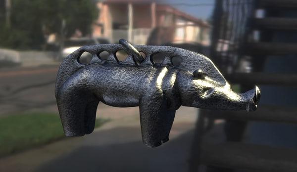 metal pig 3d model
