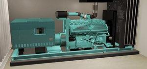 modeled generator 3d model