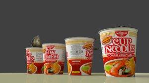 3d nissin cup noodle tom model