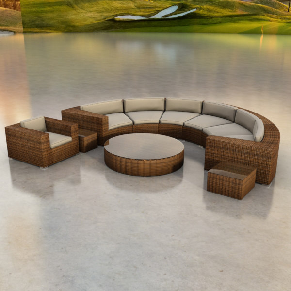 3ds max circular sofa