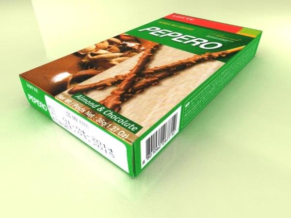 lotte pepero almond 3d x