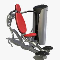 3d model chest press