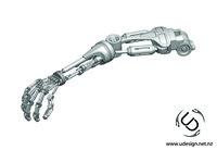 3d ige terminator t-800 arm formats
