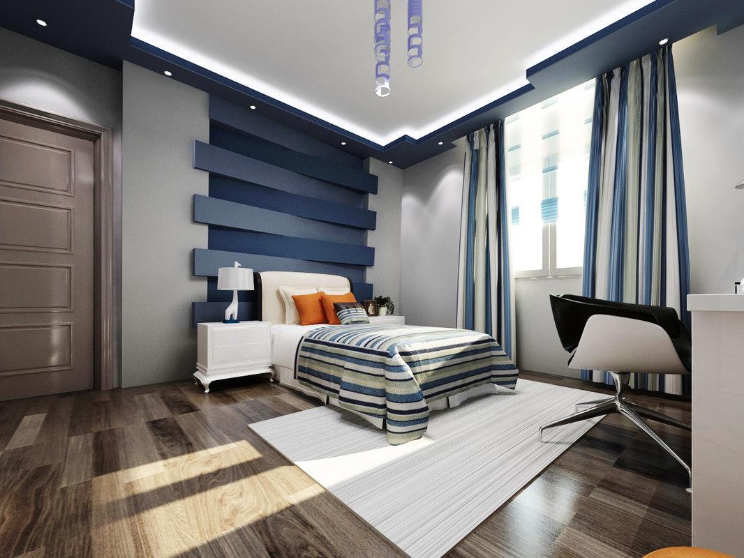 3ds max boys bedroom