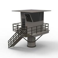 3dsmax lifeguard station life