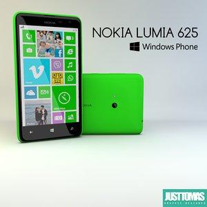 3d model nokia lumia 625
