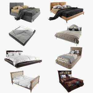 3d model bed pack