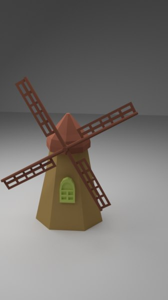3d model windmill games modeled