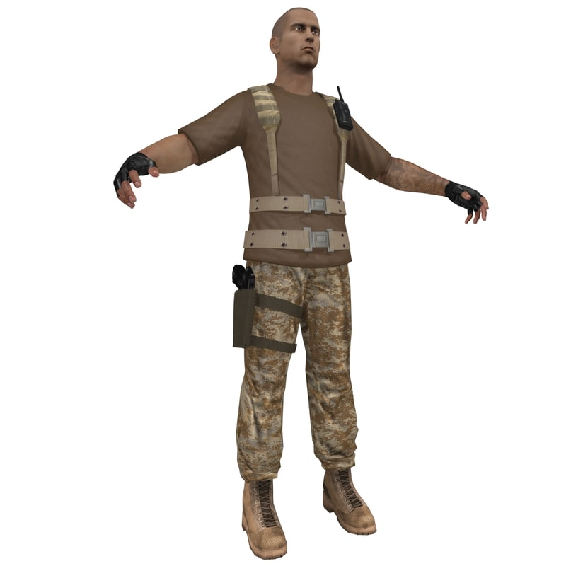 3d mercenary soldier
