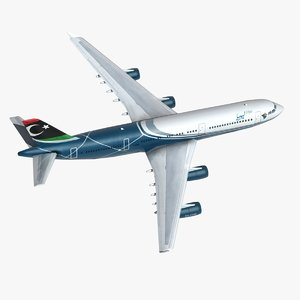 airbus a340 commercial jet 3d model