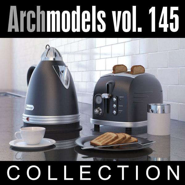 3d model archmodels vol 145 kitchen appliances