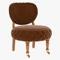 3d barrio puff chair